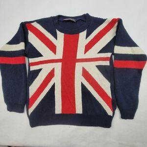 Heavy U.K. made Brittish flag Union Jack sweater